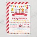 vintage circus birthday carnival baby animals invitation