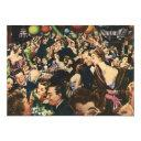 vintage happy new year's eve party invitations