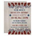 vintage rustic red and blue memorial day birthday invitation