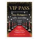 vip pass hollywood red carpet birthday invitation