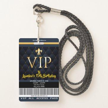 vip pass invitation for birthdays or special event badge