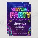 virtual birthday invitation