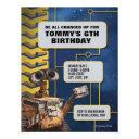 wall-e birthday invitation