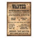 wanted cowboy poster invitation for western party