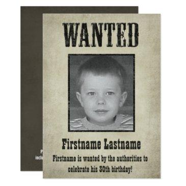 wanted poster - birthday invitations