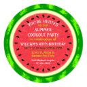 watermelon slice summer party cookout or birthday invitations