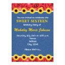 western country sunflowers denim bandana party invitation