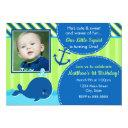 whale birthday invitation 1st birthday