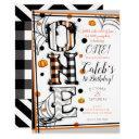 whimsical pattern halloween mashup1st birthday invitation
