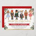 whimsical winter nutcracker kids birthday invitation