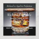 whiskey and cigar birthday party invitation