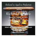 whiskey and cigar birthday party invitations