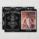 whiskey label oth photo birthday party invitation
