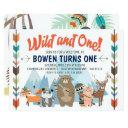 wild and one birthday invitations