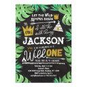 wild one birthday invitation boy wild things 1st