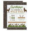 wild one boys first birthday party invitations