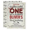 wild one invitations boy rustic lumberjack wild one