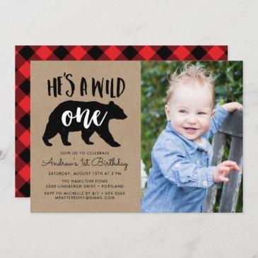 wild one | photo first birthday invitation