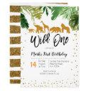 wild one safari birthday invitation