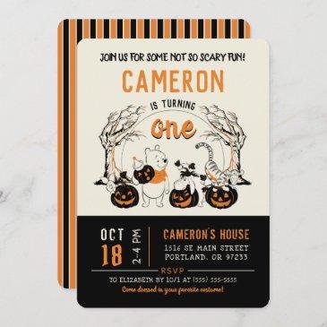 winnie the pooh halloween birthday invitation