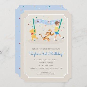 winnie the pooh | happy birthday invitation