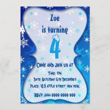 winter bithday invitation