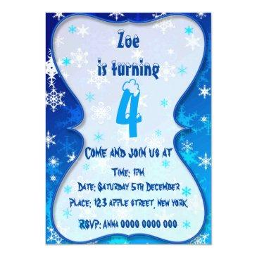 winter bithday invitation