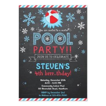 winter pool invitation / winter pool invite