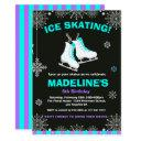 winter wonderland ice skating chalkboard birthday invitation
