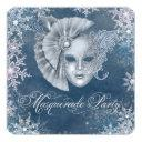 winter wonderland masquerade party invitations