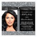 womans diamond glam photo birthday party invitation