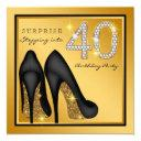 womans surprise 40th birthday party invitations