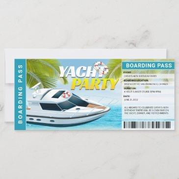 yachting boat cruise birthday party invitation