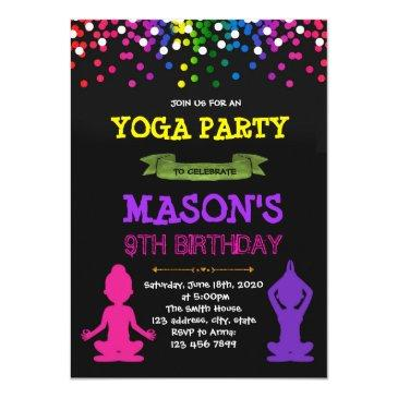 yoga birthday party invitation