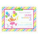 zoe striped birthday invitation